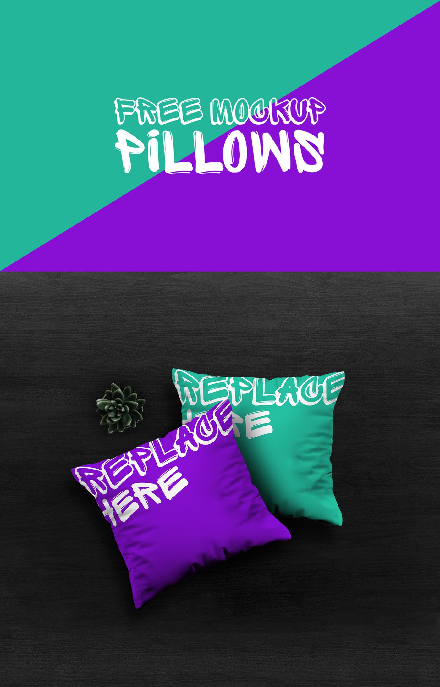 Mockup pillow free graphic design