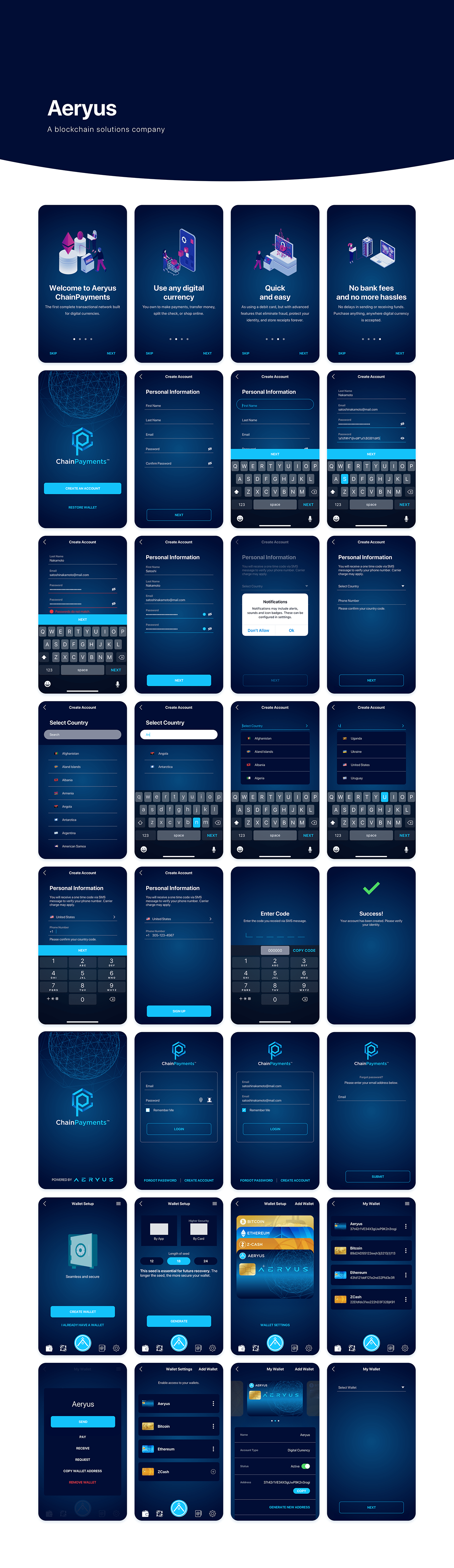 UI/UX user interface user experience Interaction design  Mobile app ios android blockchain digital currency