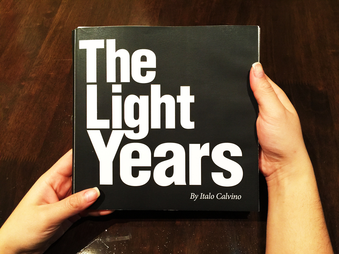 type italo calvino The Light Years type experience book book design layouts Layout grids