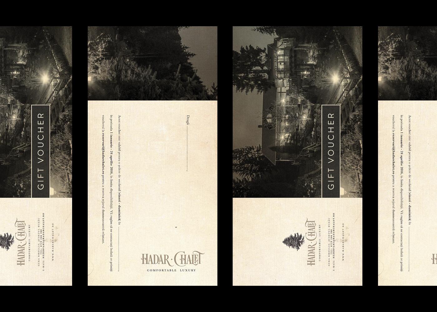 Hadar Chalet Cristi Ursea voucher design fabrik letterpress handpress