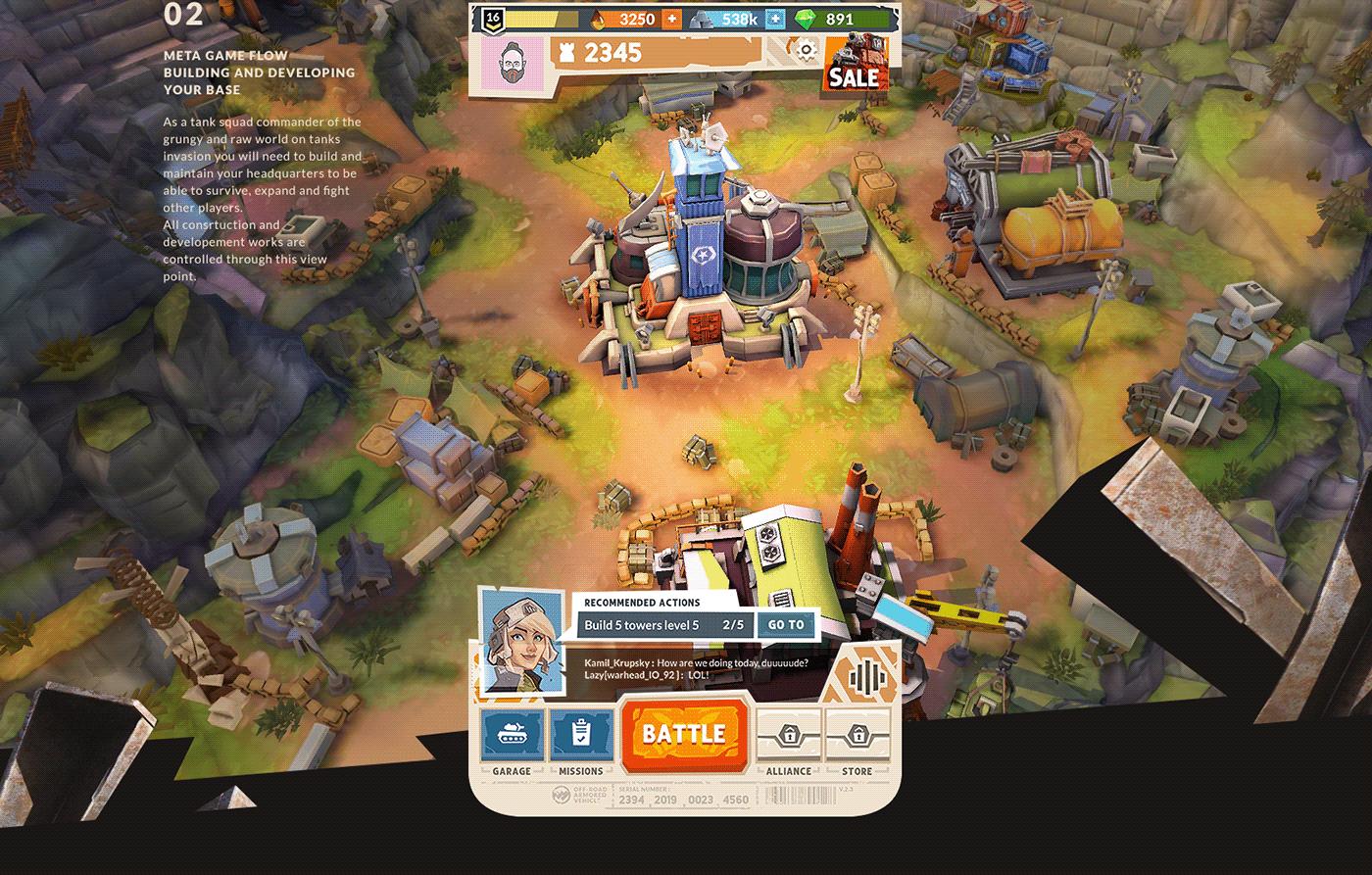 design Games Interface mobile tanks UI UI/UX ux wargaming Experience