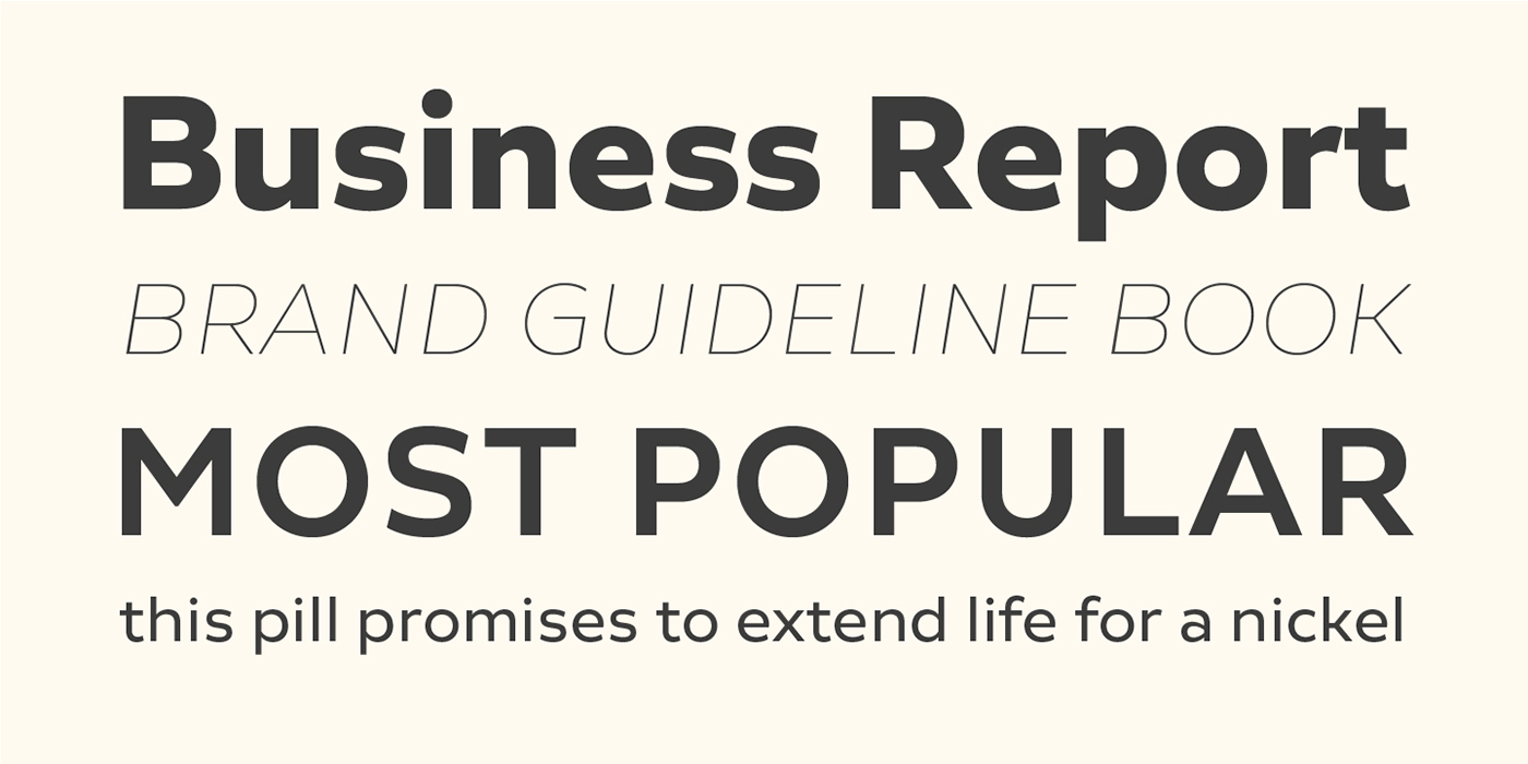 type font typography   sans modern clean Workhorse Neutral Typeface
