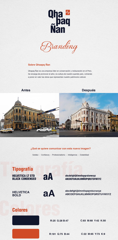 arquitectura branding  conservación contruccion logo imagen de marca logo Logotipo qhapaq ñan rebranding restauración