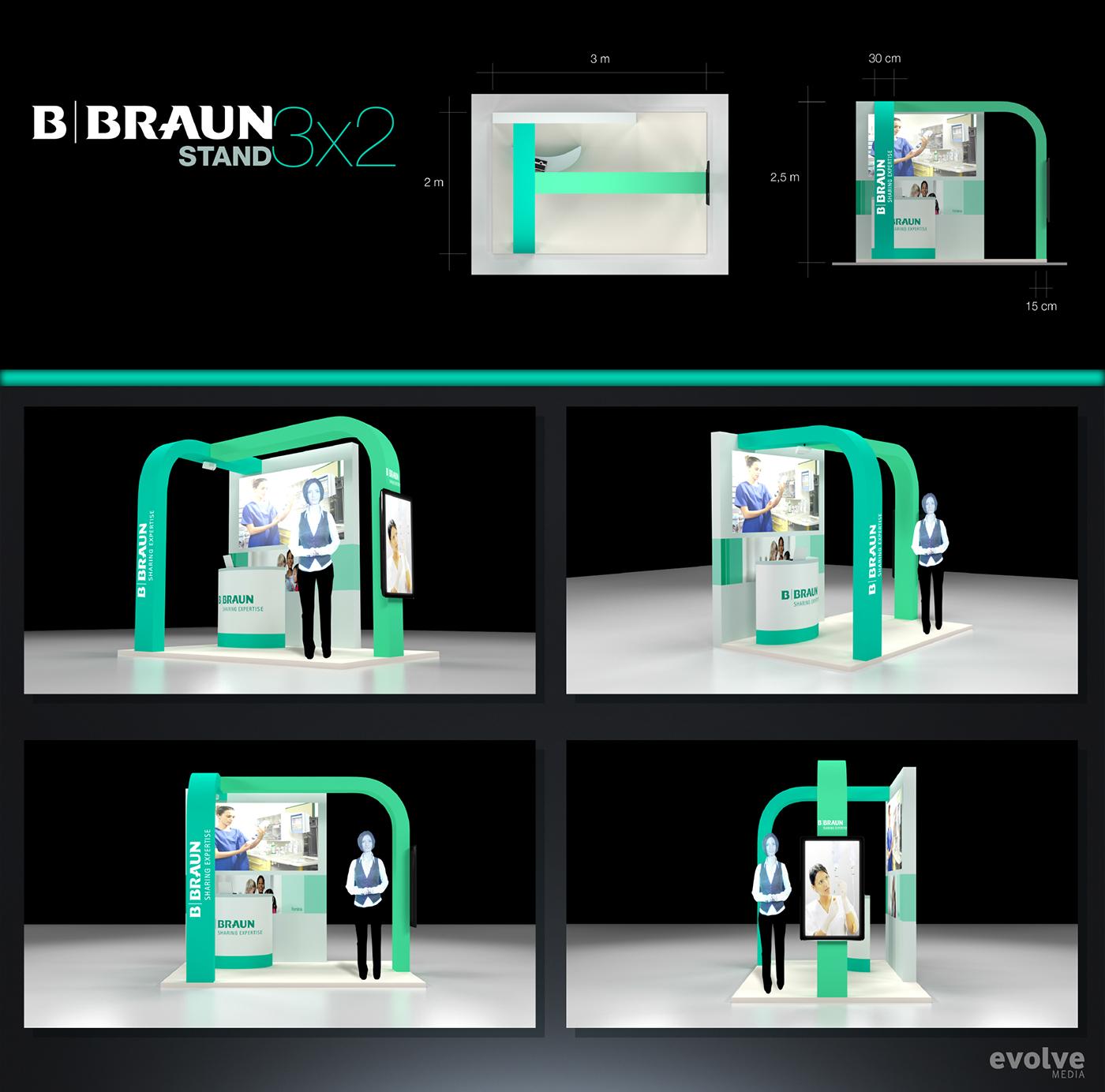 Exhibition Stand Design App : Bbraun exhibition stand design on behance