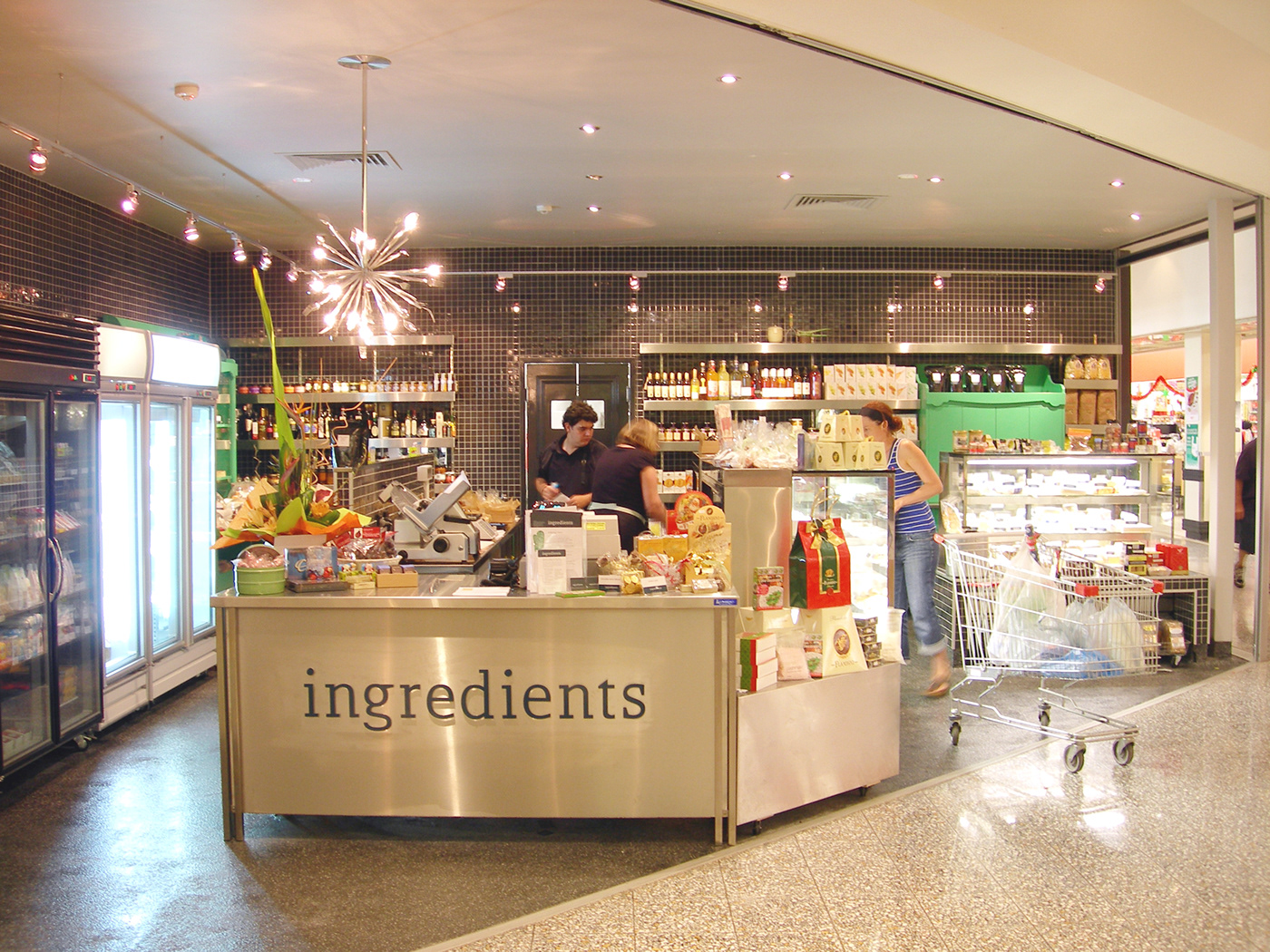 deli Signage environmental Food  identity