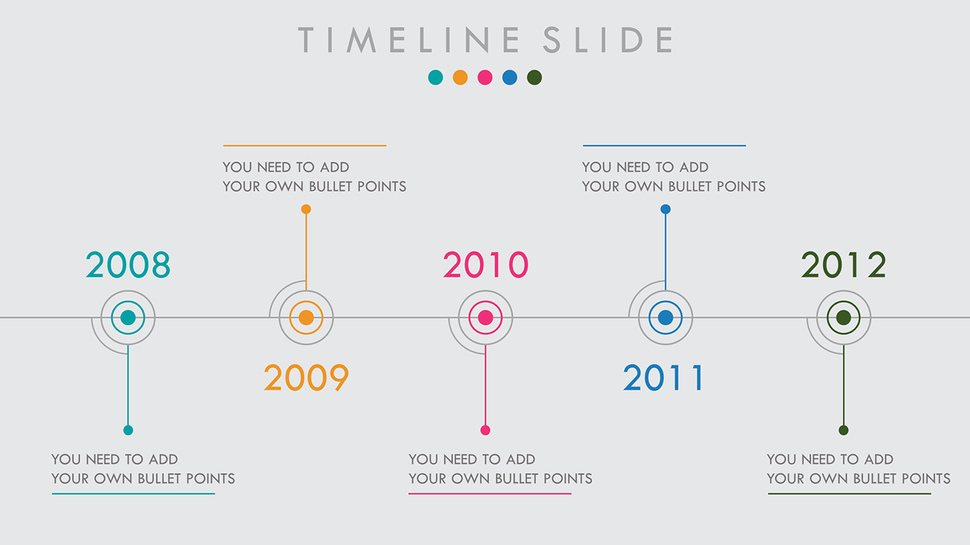 Timeline free powerpoint template on behance download this powerpoint template for free click here watch the slide show video with animation toneelgroepblik Choice Image