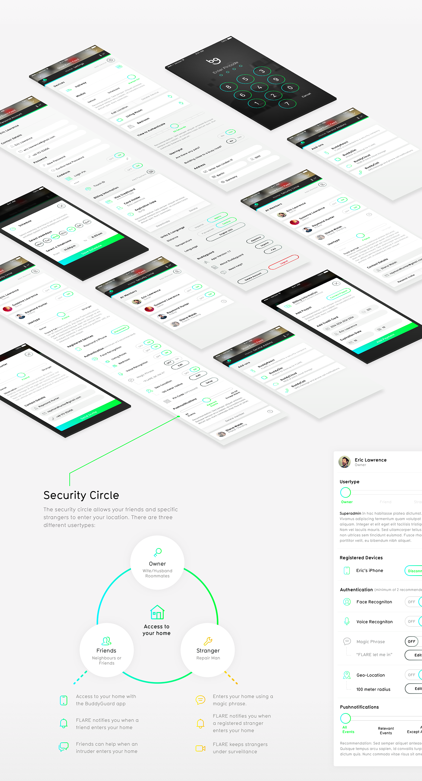 BuddyGuard Home Security App - UI/UX