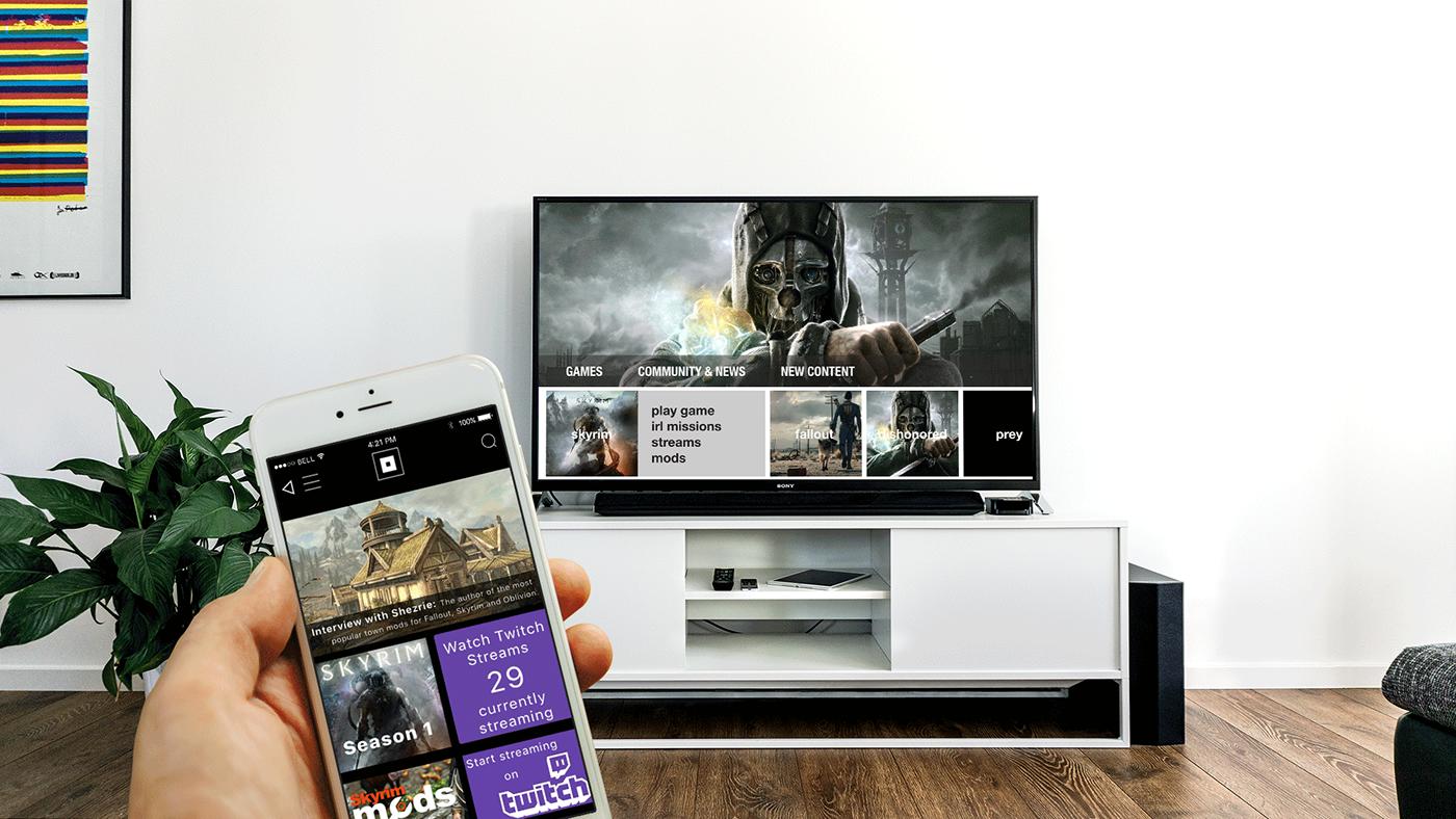 Bethesda Portal Mobile & Console App Design on Behance