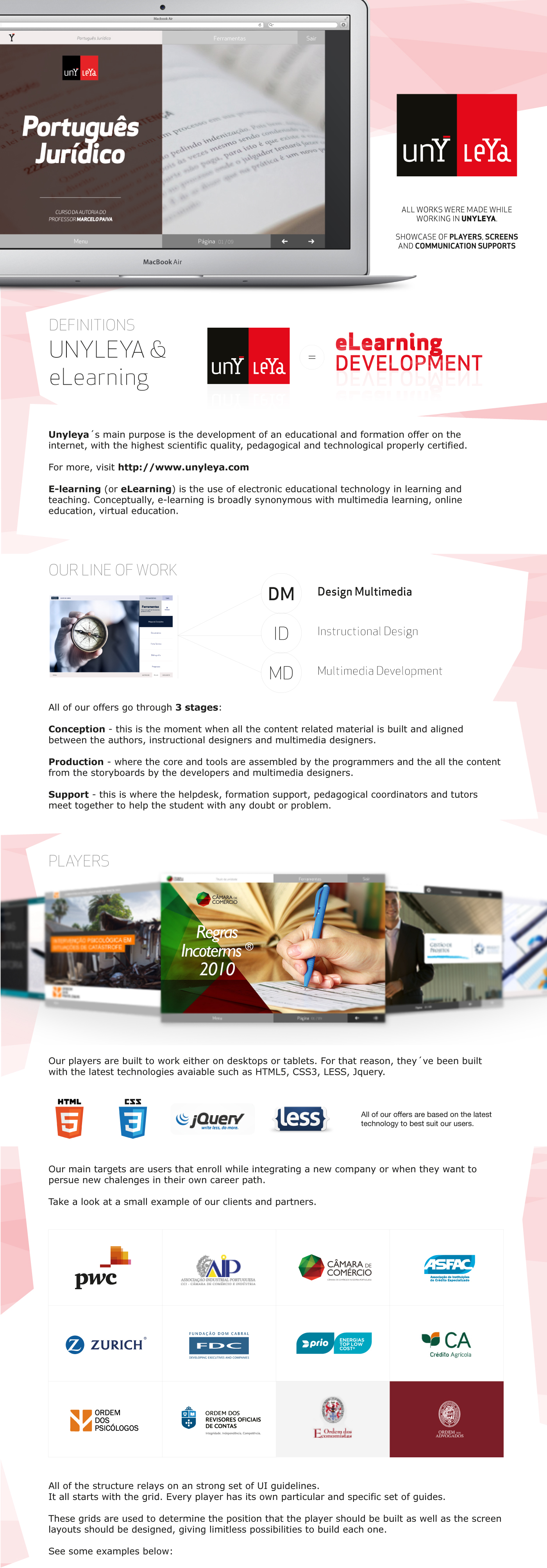e-learning user interface user experience mock-ups Webdesign interaction html5 css3 jquery less Instructional Design development