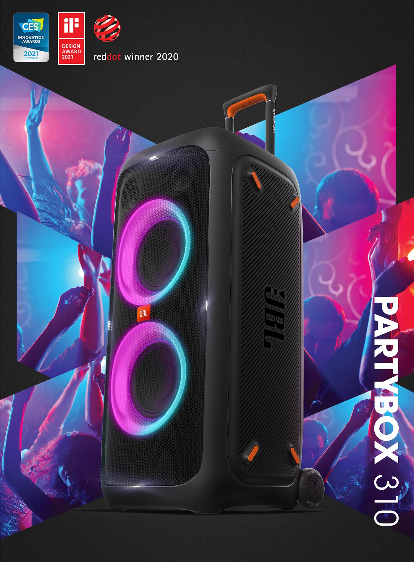 Audio bluetooth Harman industrial design  jbl music party partybox portable speaker