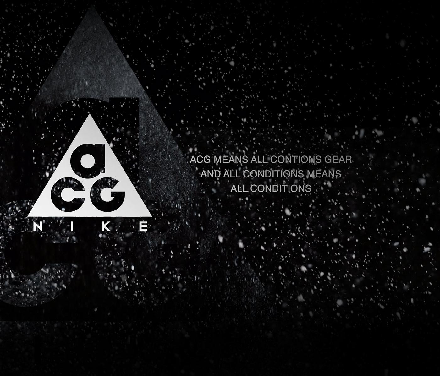 Acronym ACNRM stone island shadow project Nike acg animation  motion graphics  branding  TECHWEAR