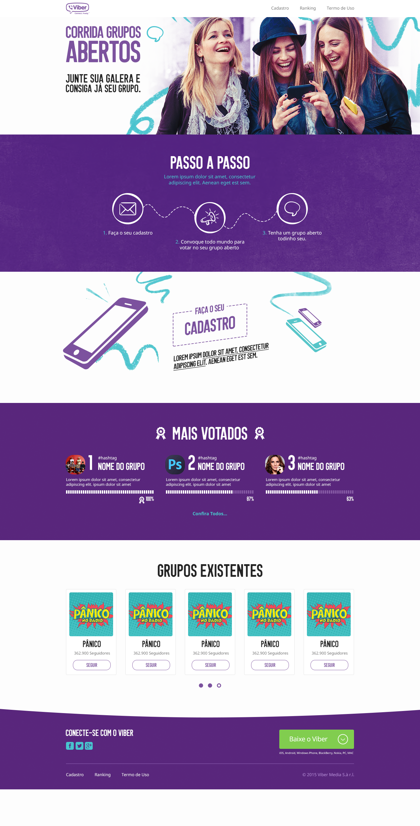 viber Webdesign Web mobile
