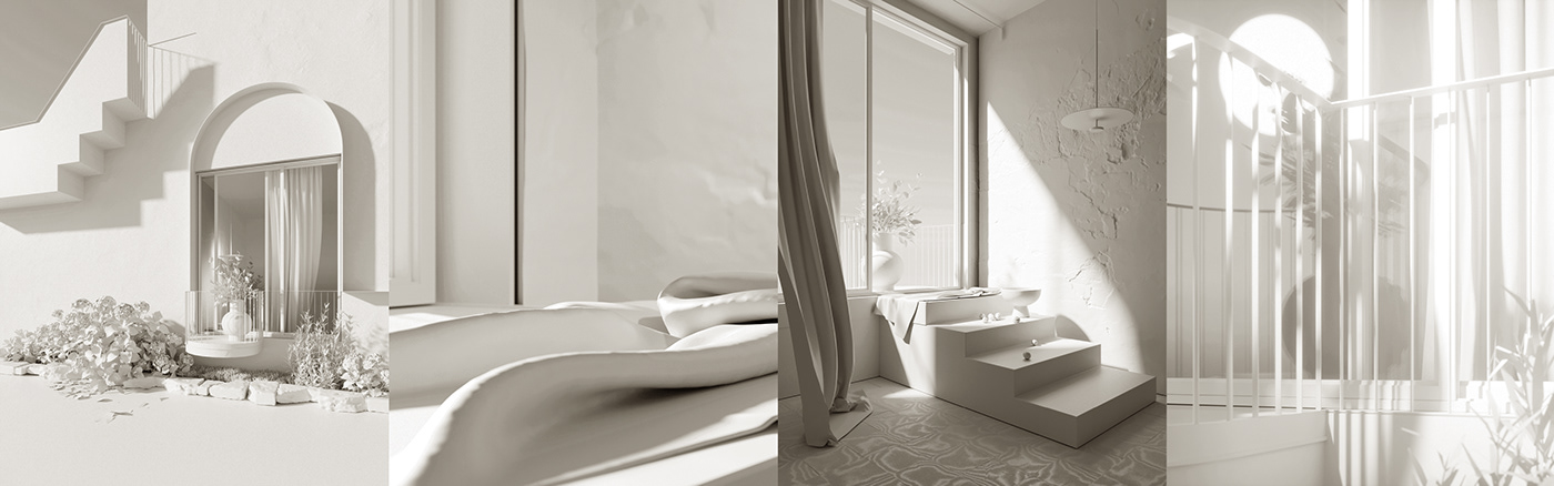 3d modeling 3drender 3ds max coastal interior design CoronaRender  dreamy interiors interior design  photorealism cgi Photorealistic Rendering