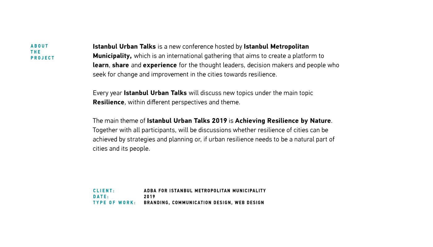 istanbul Urban resilience Event conference municipality speaker talks branding  presentation