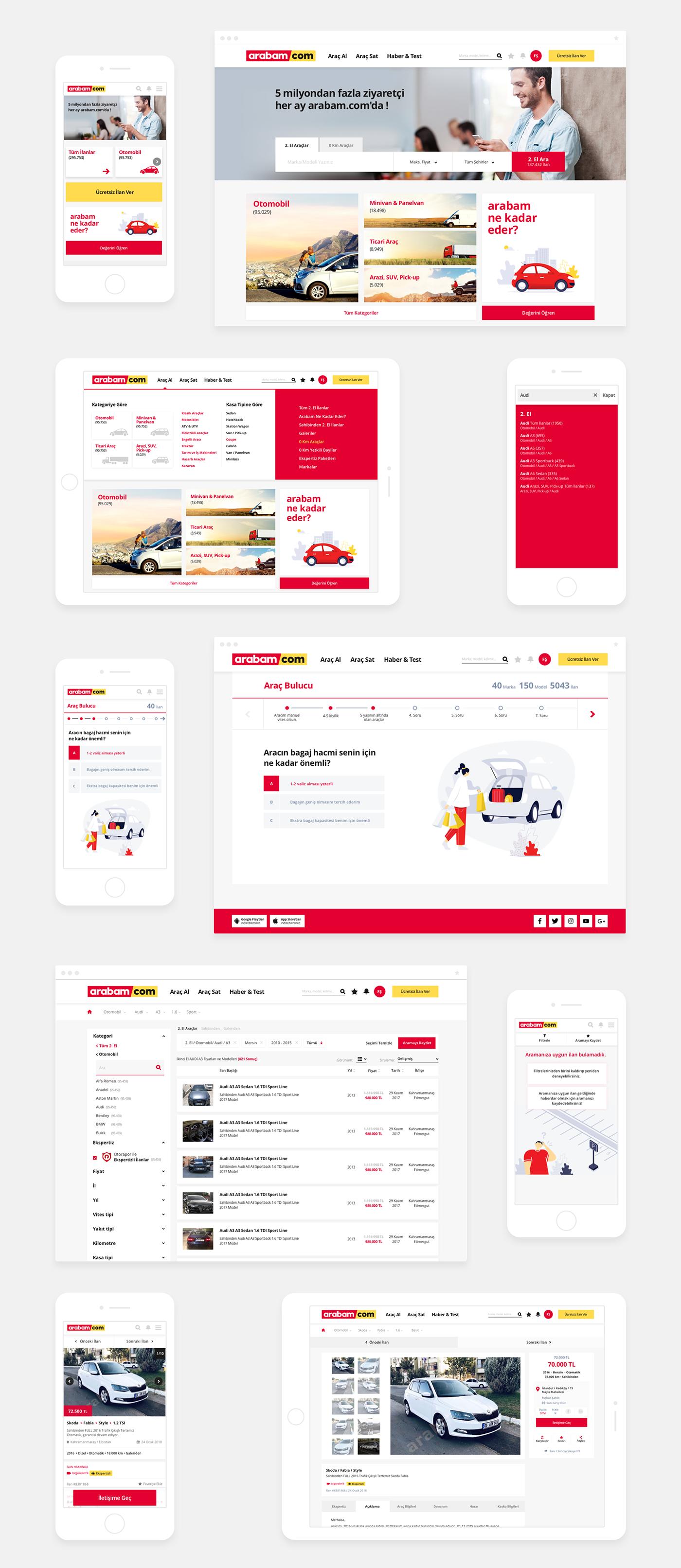 arabam.com car UI Icondesign ILLUSTRATION