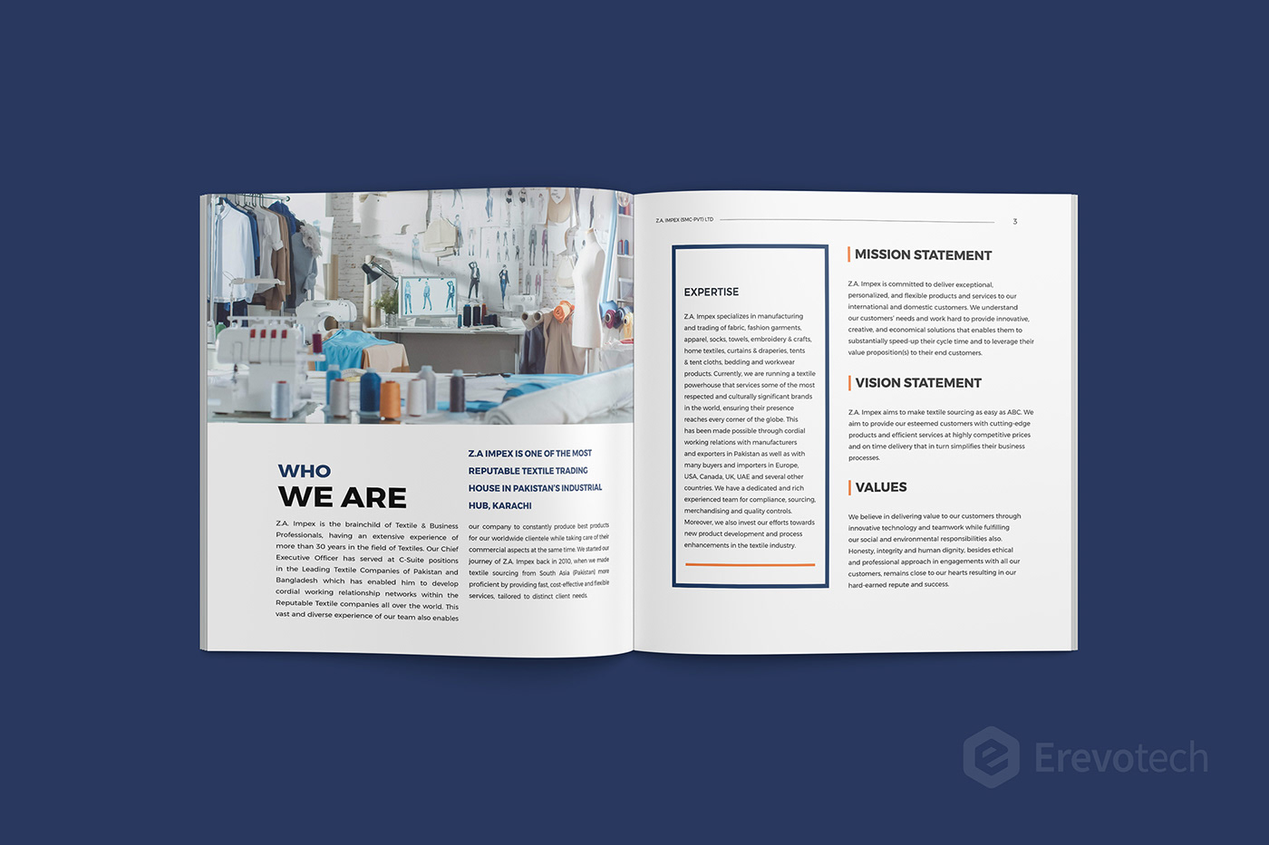 textile products brochure