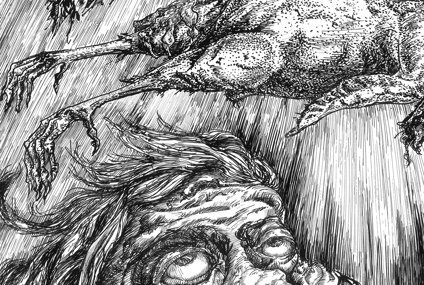 ink artwork invasion Emotional psychology philosophy  grotesque surrealism ILLUSTRATION  ascension