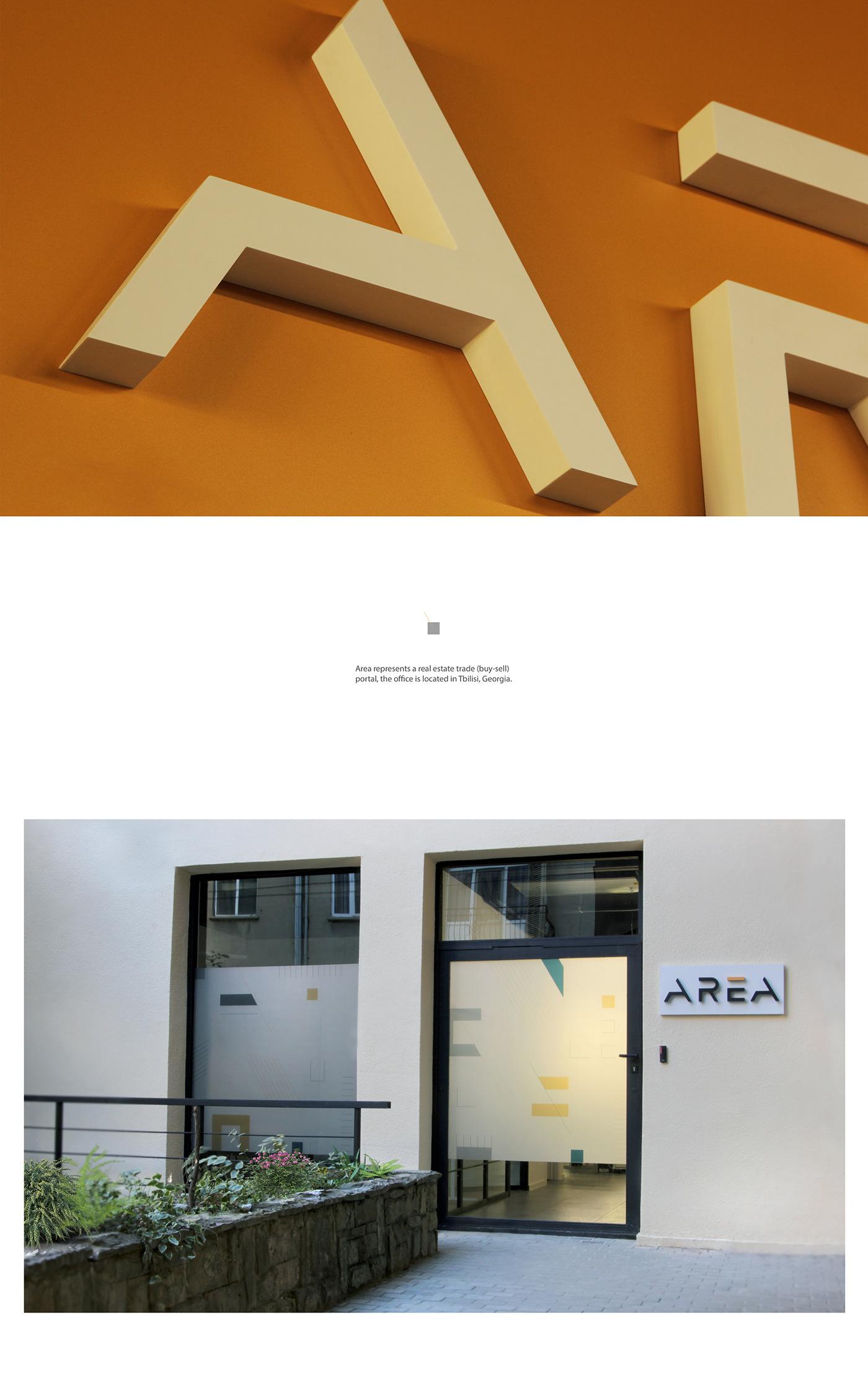 logo branding  area real estate guidline logo mark typography   pattern brandbook Georgia