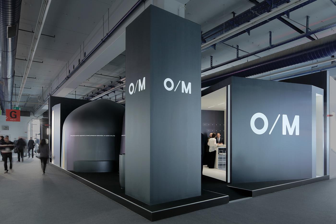 Light building o m fair stand on behance for Graphic design frankfurt