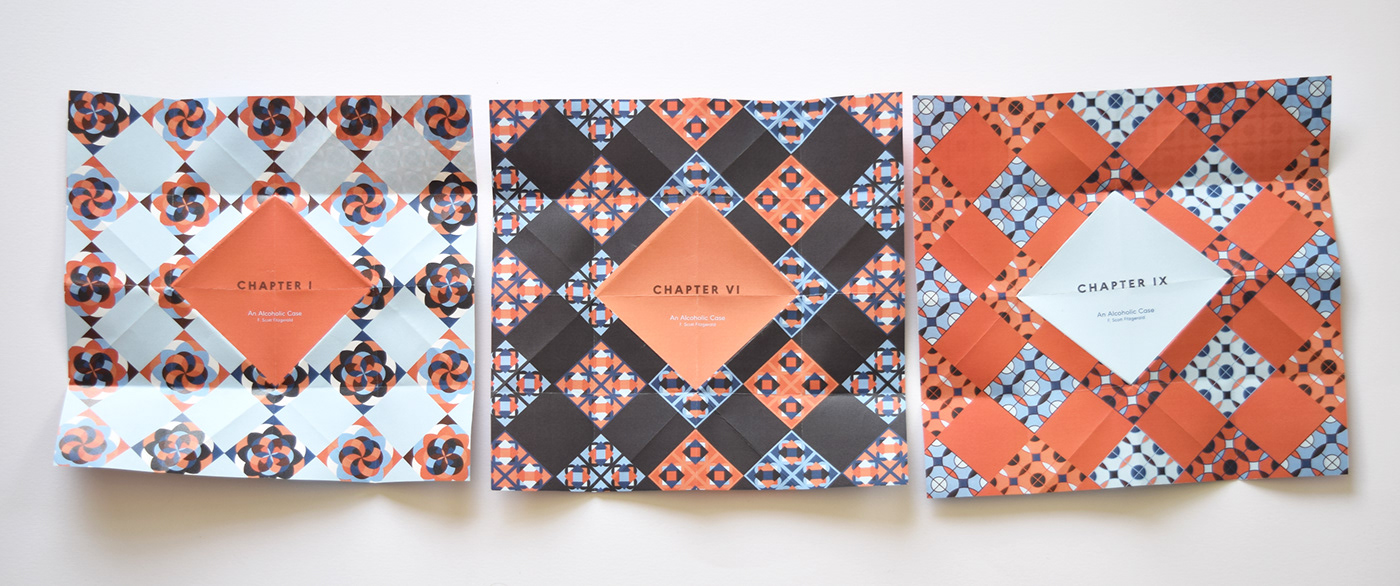 publication broadsheet f scott fitzgerald Lebanese Adaptation pattern art deco traditional tiles typography