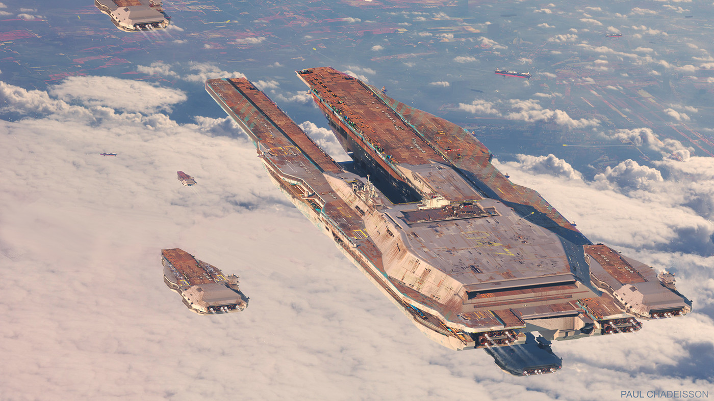 Concept Art for Surreal Air Carriers