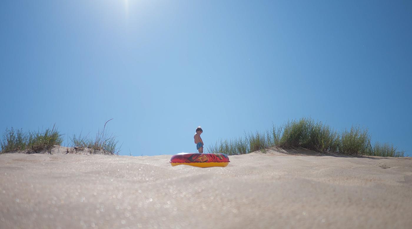 pissing boy Little Boy Sun and Sand desert and boy