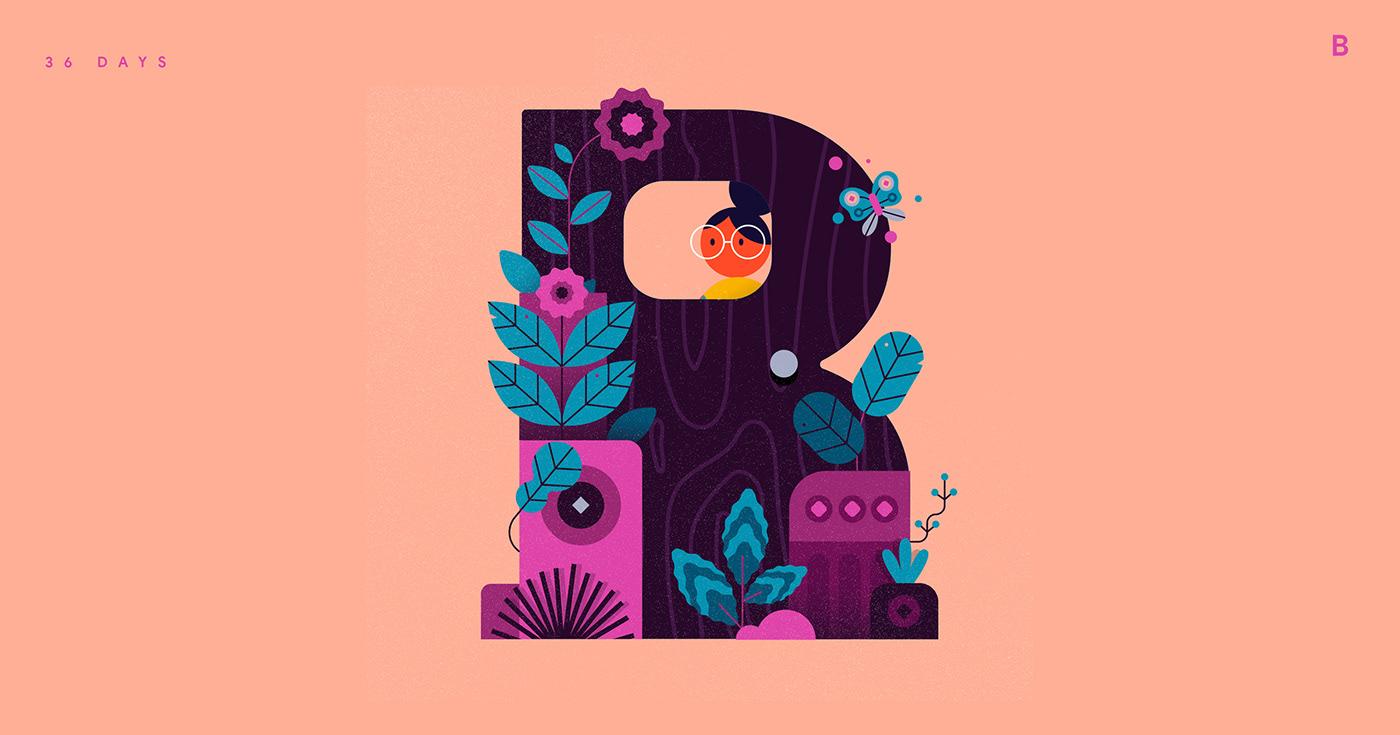36daysoftype,Adobe Aero,aero,alphabets,AR,AR alphabets,ILLUSTRATION ,type