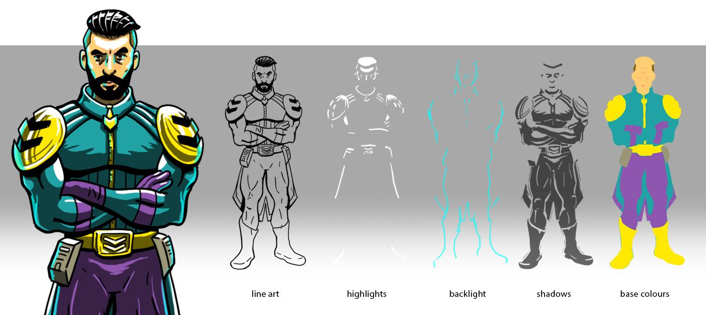 90s Character design  design digital illustration game ILLUSTRATION  Parody