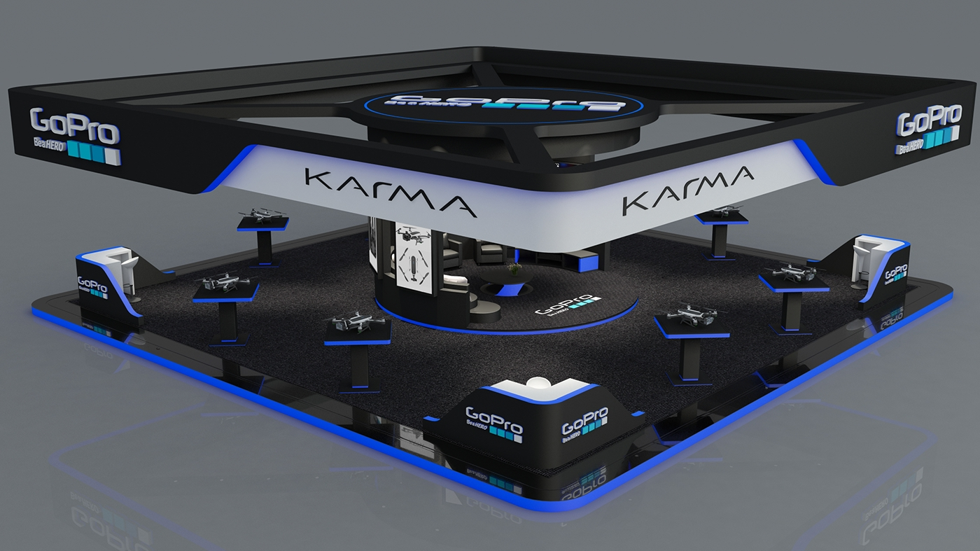 Go Pro Karma Exhibition Stand  Showroom Made In 3d Max On