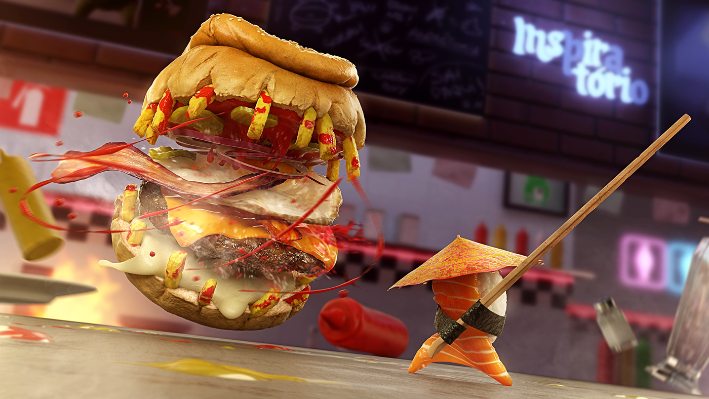 Food Battle On Behance