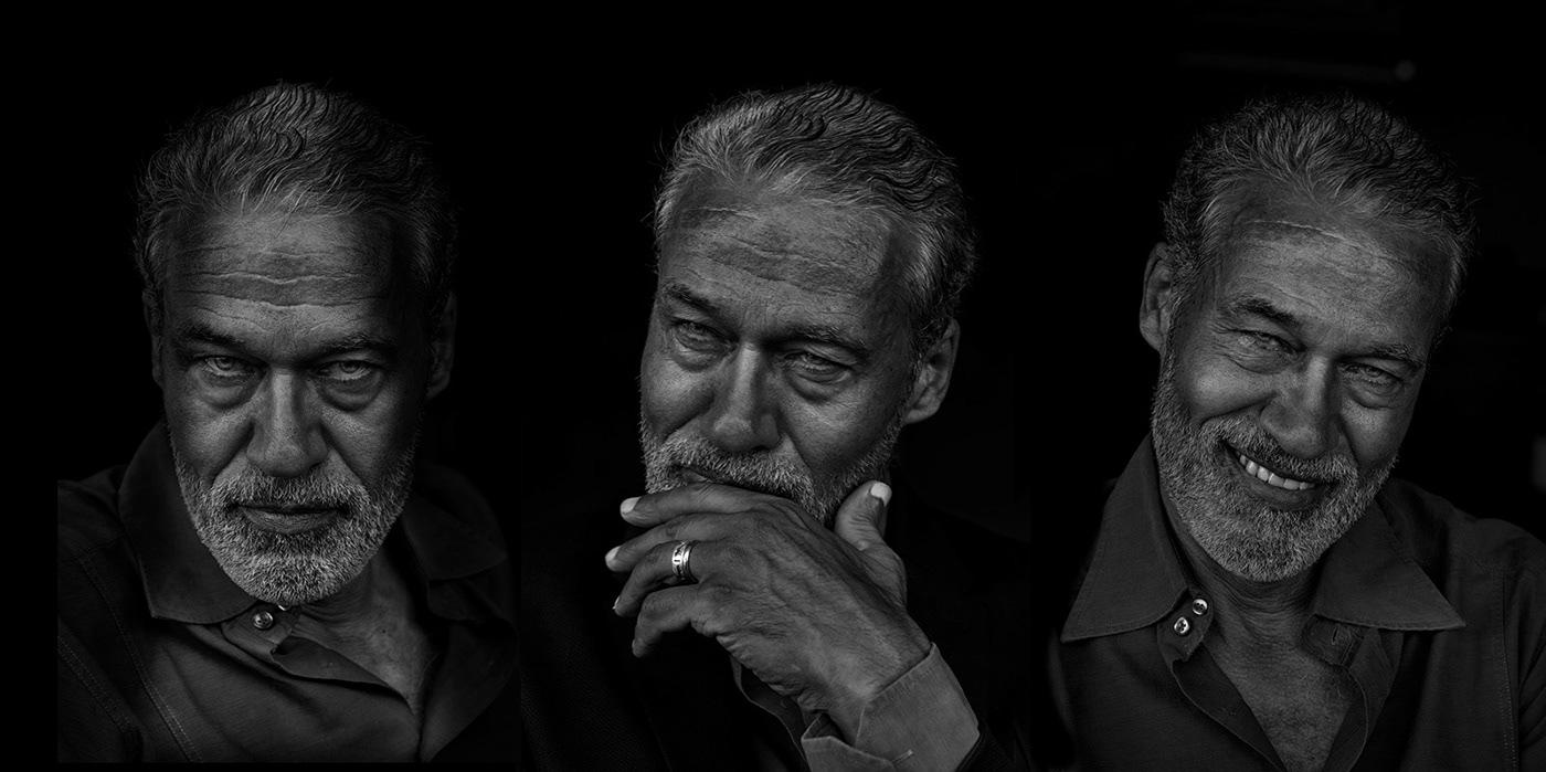 actor Actor portfolio portrait black and white low key Expression