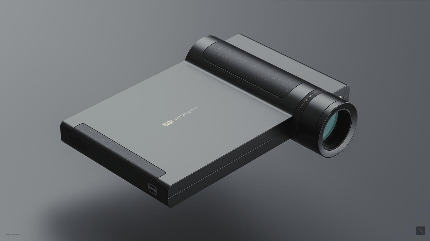 industrial design  concept design product design  3D rendering CGI camera lenses keyshot fusion 360
