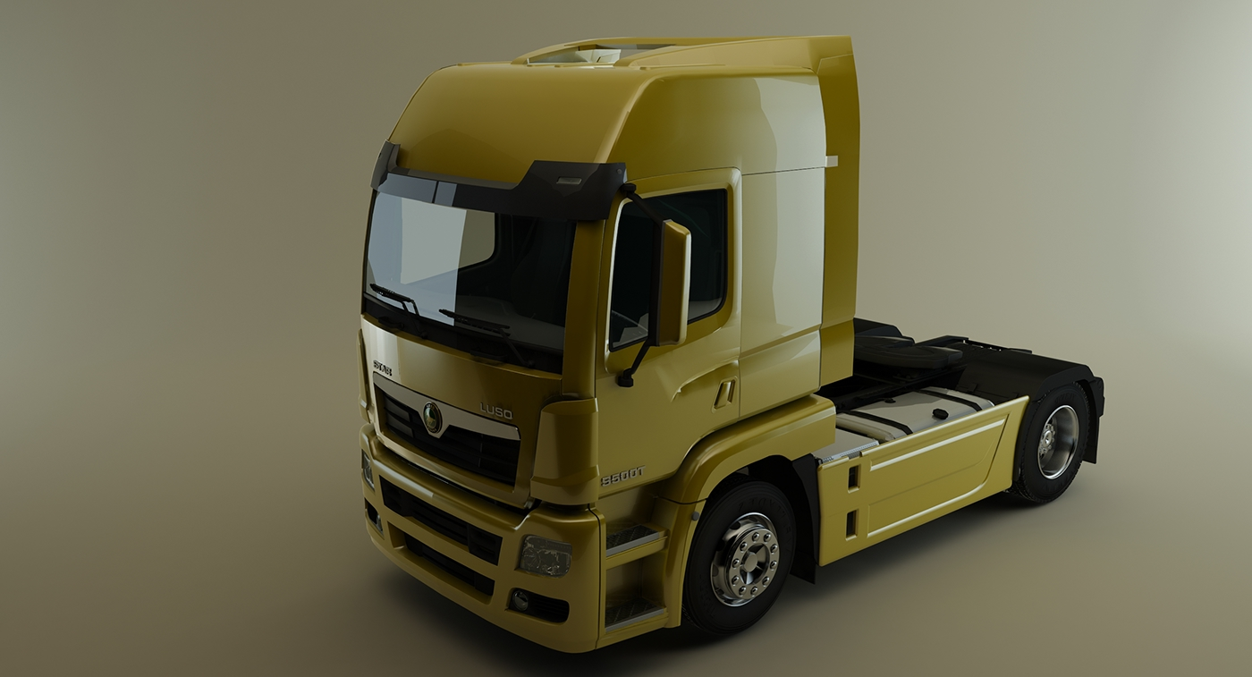 3d max vray truck on behance for Espejo 3d max vray