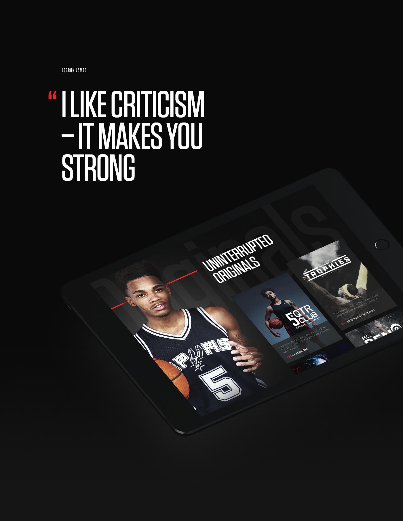 LeBron James Serena Williams sport Platform content video player basketball vlog NBA Responsive
