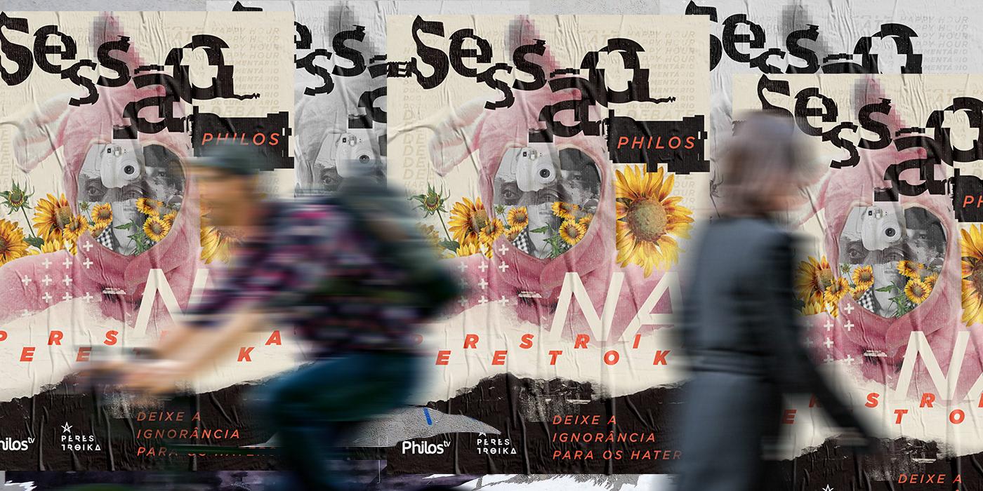 poster cartaz tipografia lettering colagem design gráfico Fotografia