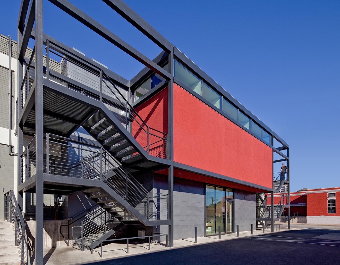207 San Jacinto,Adaptive,re-use,renovation,Austin,texas,brett,wolfe,specht,harpman,warehouse,Office,Interior,restaurant,Mixed-Use