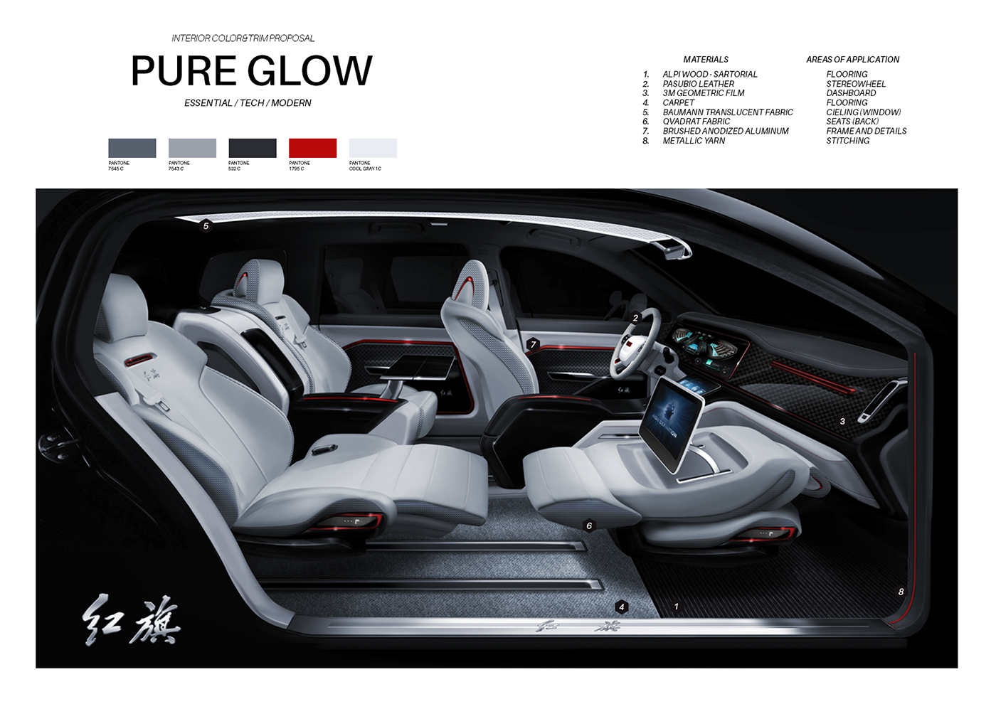 car interior // color&trim projects on behance
