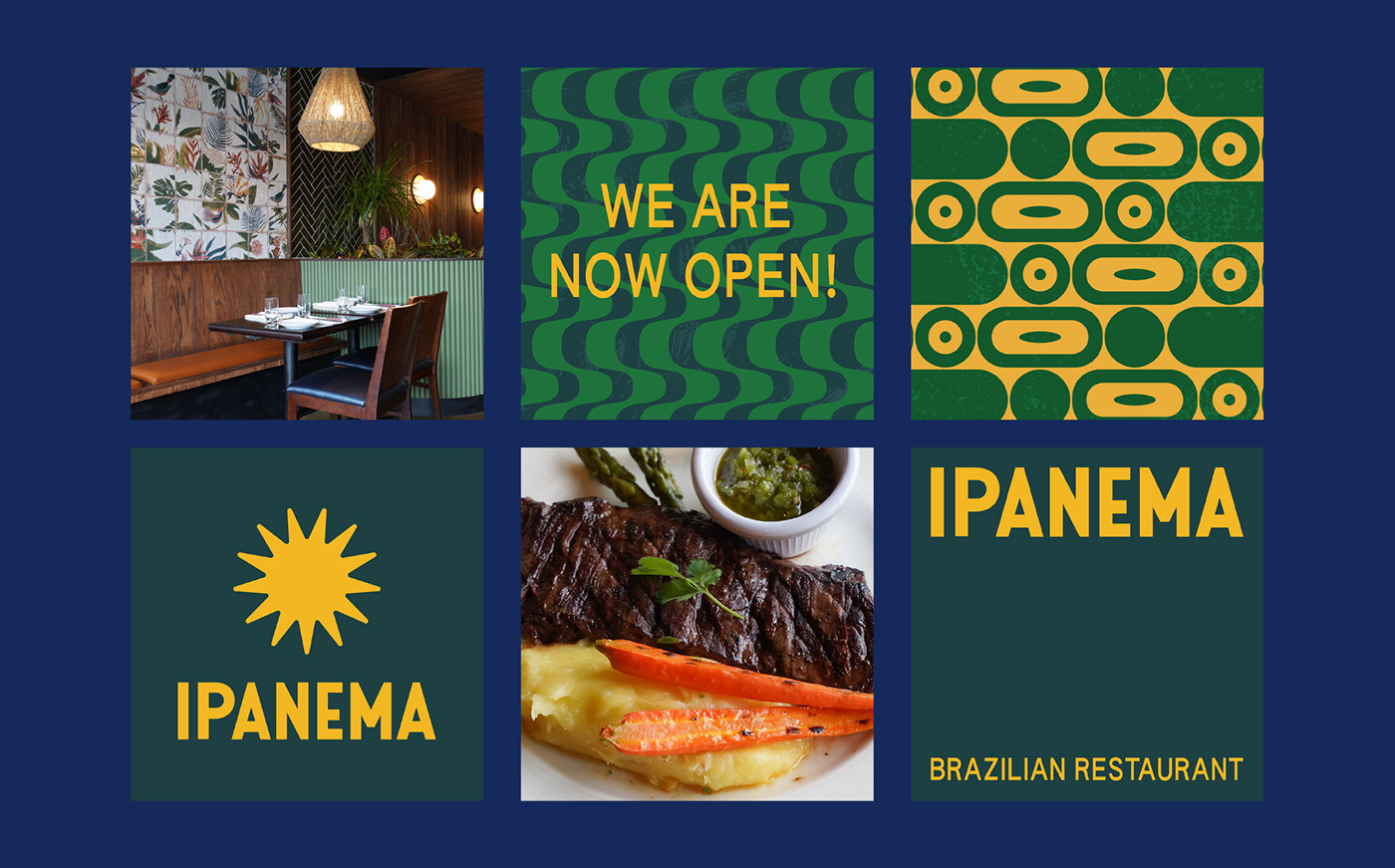beach branding  Brazil Food  ILLUSTRATION  ipanema Packaging pattern restaurant south american
