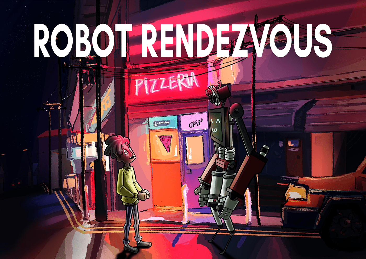 3d animation Animated Short concept art Film   robots Character design  Digital Art  Environment design nightscapes Photography