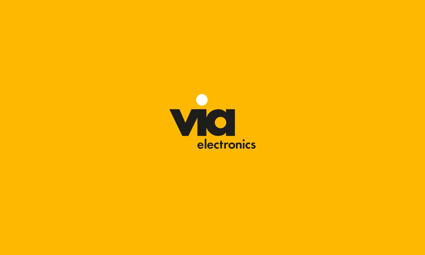 Electronics orange branding  Logotype
