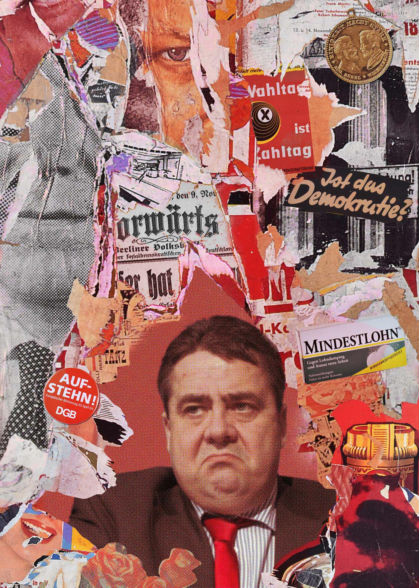 colagem collage Editorial Illustration Elections politician politics portrait berlin germany