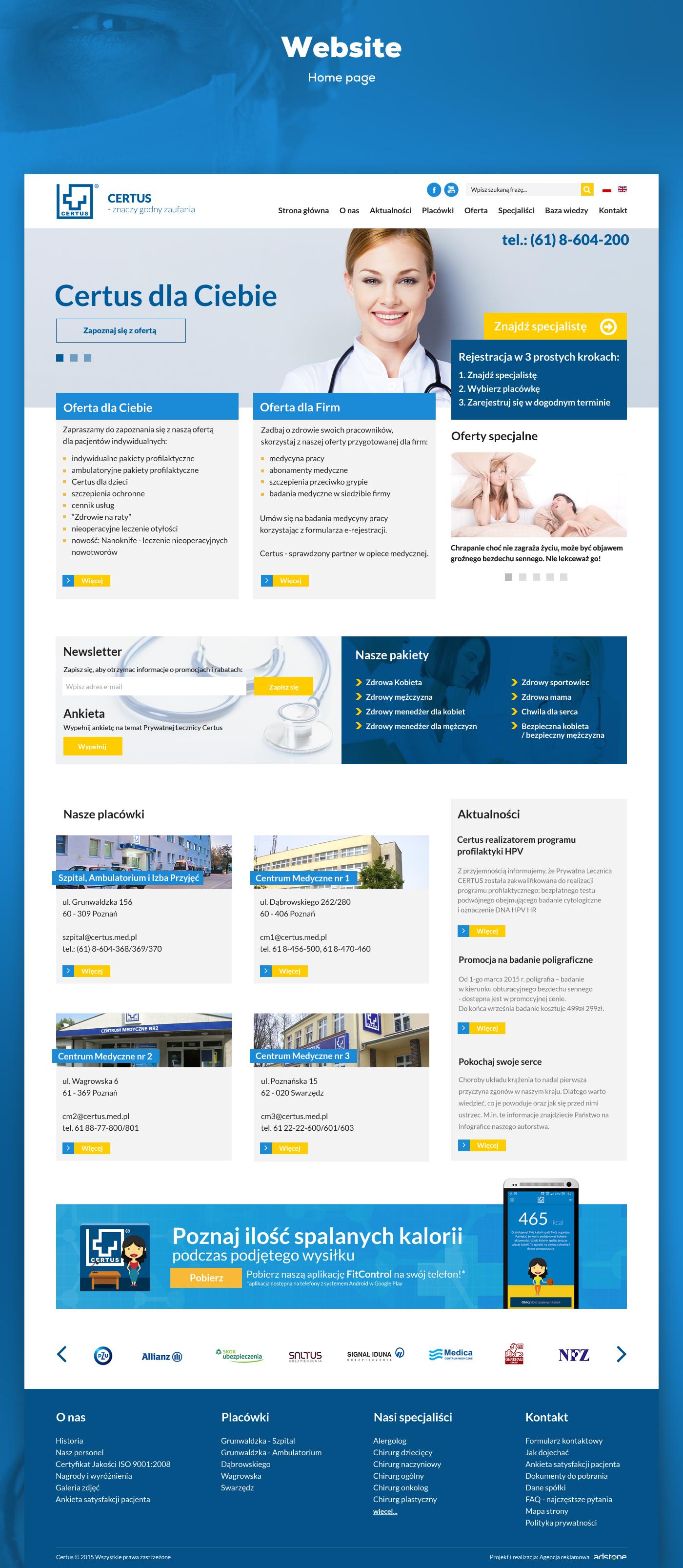 ux Web design Webdesign graphic medicine doctor hospital poland poznan adstone Health UI rwd