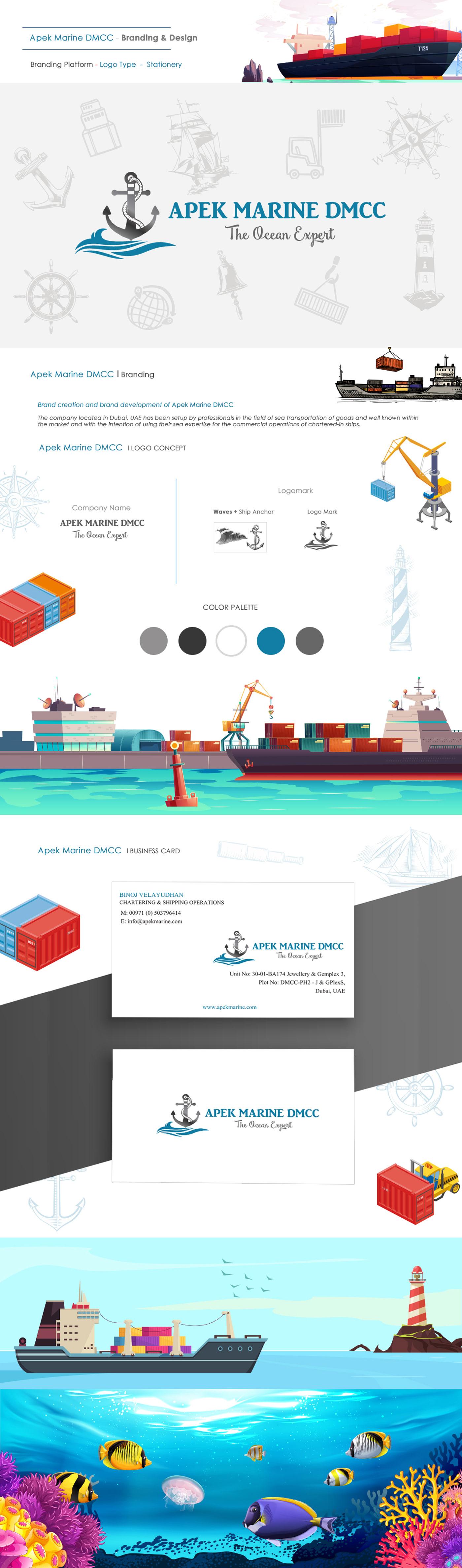 color design dubai graphics idea ILLUSTRATION  logo marine sea