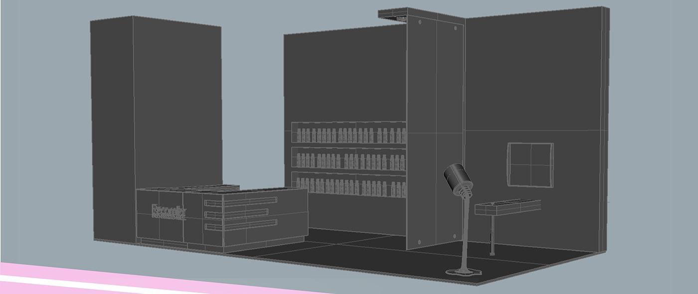 modeling 3D Stand exposhow model recamier