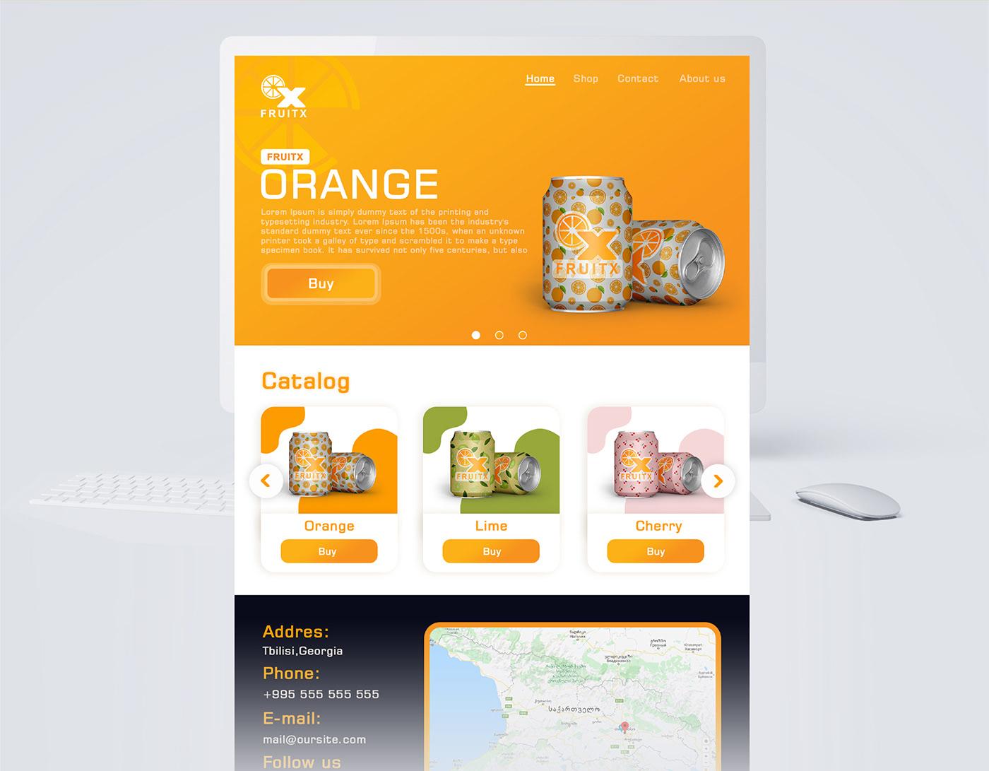 Fruit UI user experience user interface ux Website