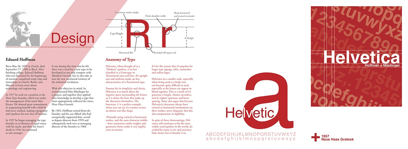8 Page Helvetica Type Foundry Brochure On Behance