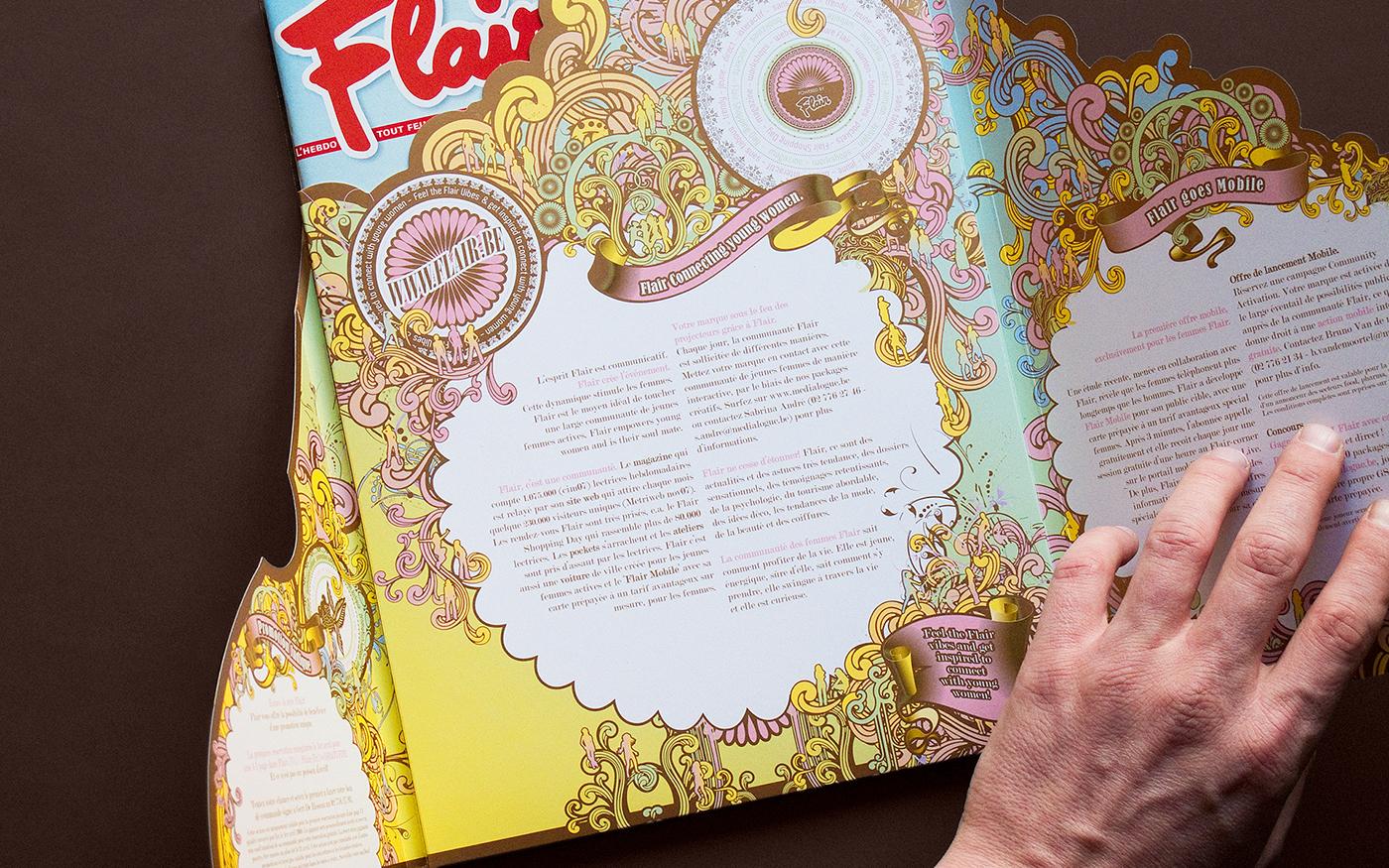 Flair magazine mailing b2b presentation folder