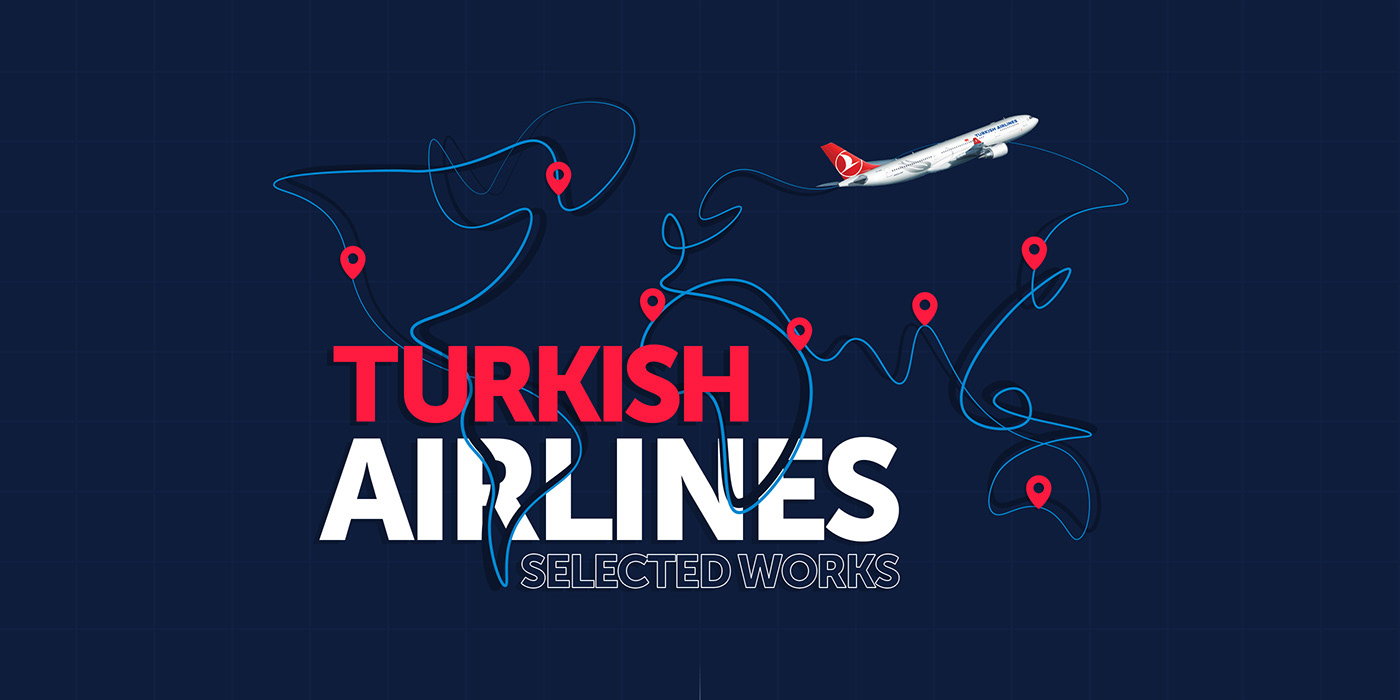 Flying Airlines banner mailing creative flat UI motion Travel minimal