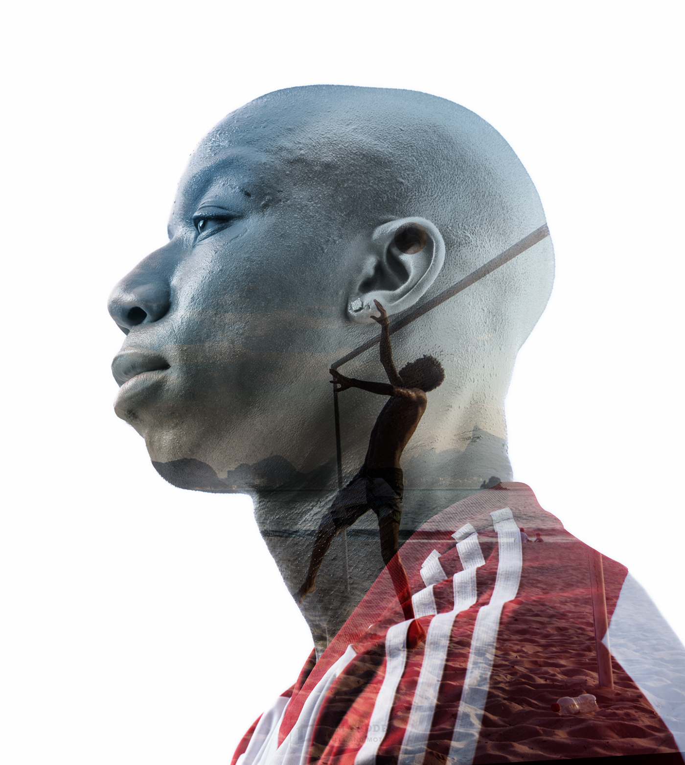 soccer portrait double Exposure athletes mls Brazil world cup portraits sport sports