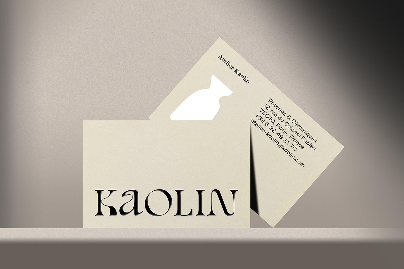 branding  ceramic craft embossing handmade identity minimal Pottery set design  typography